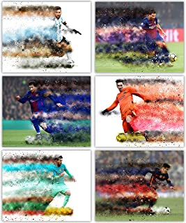 Lionel Messi Poster Collection - The Great Member of Club Barcelona and Team Argentina in Our Soccer Wall Art Series - Set of 6 8x10 Photos