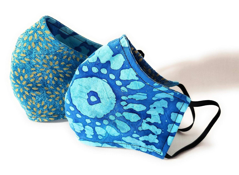 Batik Manufacturer direct delivery Face Mask Metallic 3 Layer trust Reversi with Filter