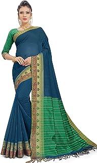 Gaurangi Creation Women's Cotton Saree with unstitched blouse piece