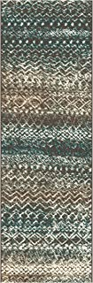 Superior Sunderland Collection Area Rug, 10mm Pile Height with Jute Backing, Fashionable and Affordable Rugs, Distressed Abstract Moroccan Rug Design - 2'7