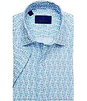 Blue Seahorse Printed Short Sleeve Sport Shirt