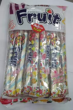 Captain Fruit Marshmallows ( Halal ) Twisted in Blue White Yellow Color, ( 24 X 13g ), 312g