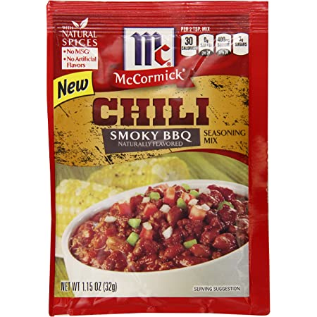 Amazon Com Mccormick Smoky Bbq Chili Seasoning Mix 1 15 Ounce Pack Of 12 Grocery Gourmet Food