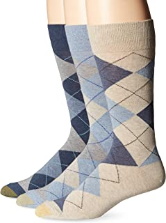Men's 3-Pack Carlyle Argyle Crew Sock