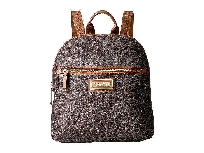 Calvin Klein  Belfast Dressy Nylon Backpack (Brown/Khaki Photoprint) Backpack Bags