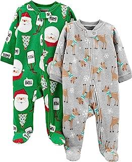 Baby 2-Pack Christmas Fleece Footed Sleep and Play