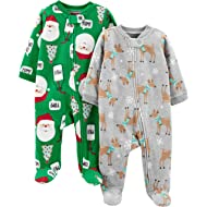 Baby 2-Pack Christmas Fleece Footed Sleep and Play