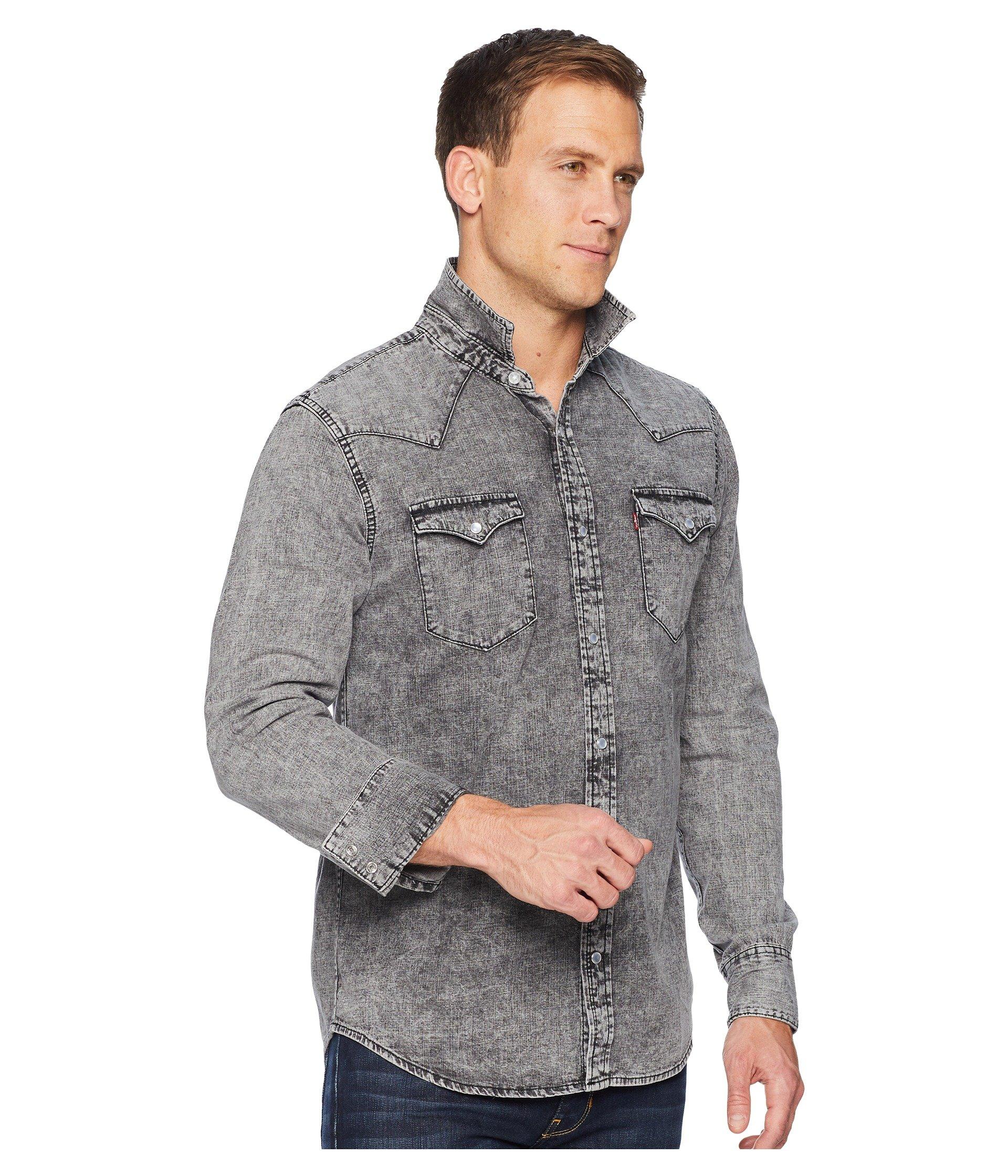 Barstow Grey Levi's® Shirt Western Grey light Hunk Standard qwwB78z
