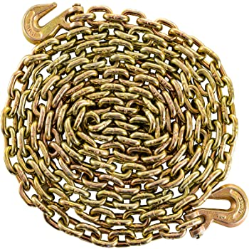 Yellow Chromate Koch A06212 1//4 by 12-Feet Binder Chain Grade 70 with Grab Hooks