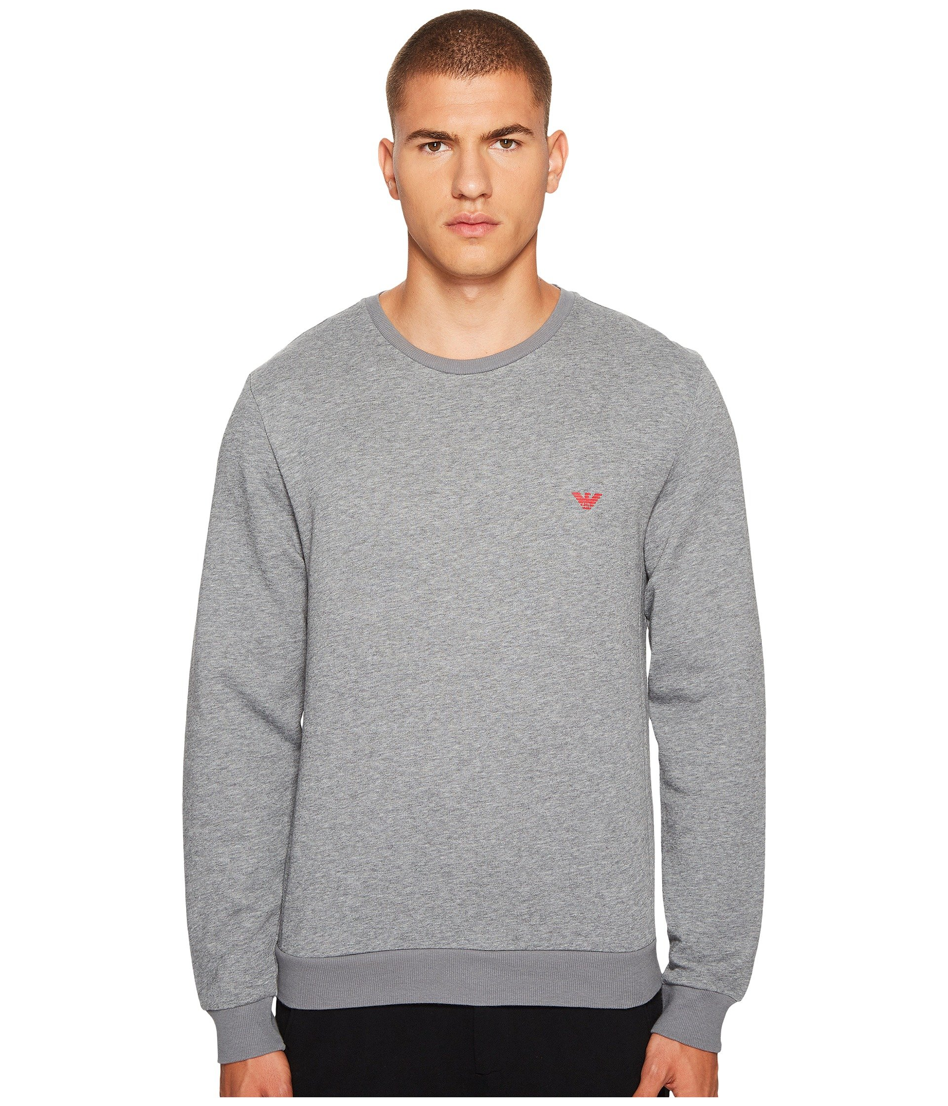 emporio armani french terry pullover sweatshirt at. Black Bedroom Furniture Sets. Home Design Ideas