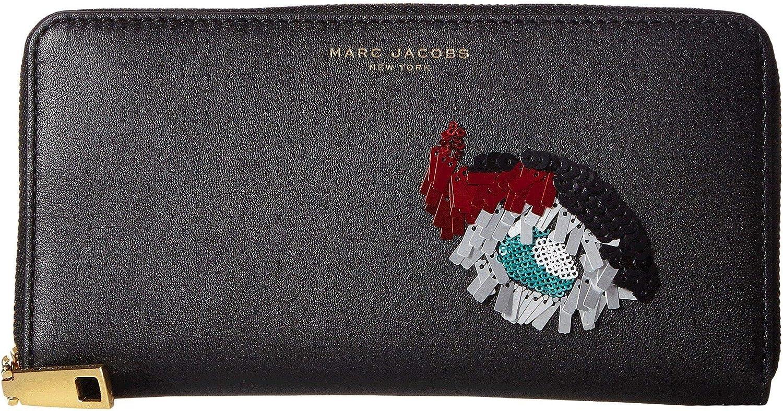 Marc Jacobs Women's Vintage Collage Standard Continental Wallet Black Wallets