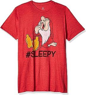Disney Men's Snow White and Seven Dwarfs Hashtag Sleepy Graphic T-Shirt