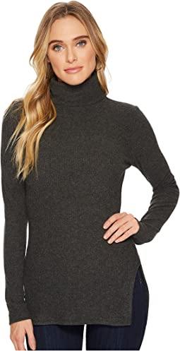 HEATHER - Keaton Rib T-Neck Top