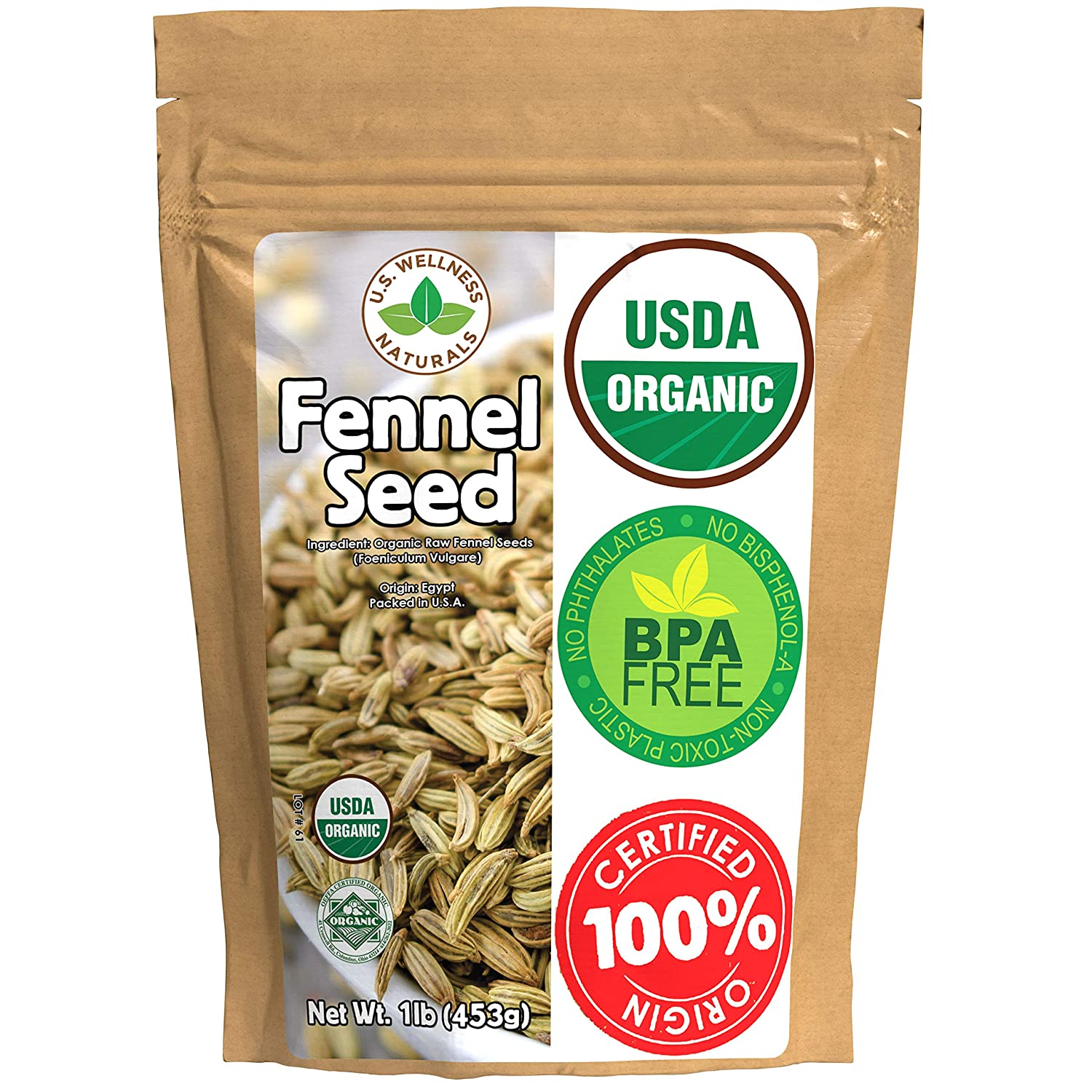 Fennel Seed 1LB Gifts 16Oz 100% Egyptian Organic Se Popularity CERTIFIED