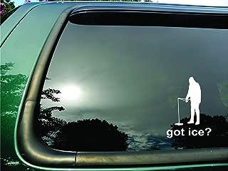 Got Ice Fisherman- Die Cut Vinyl Window Decal/sticker for Car, Truck or Laptop