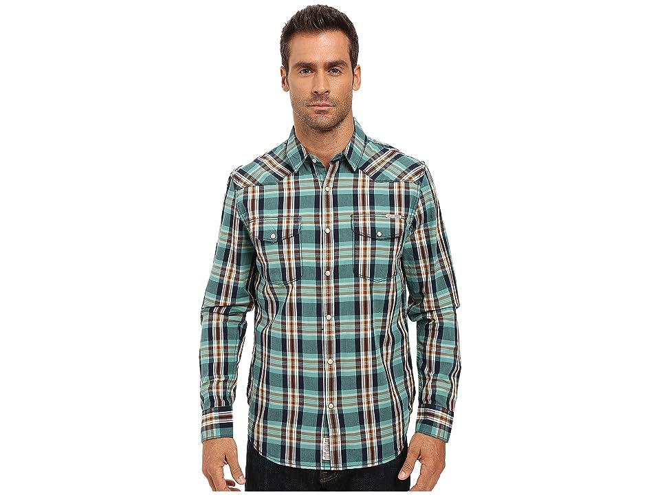 Lucky Brand Santa Fe Western Shirt (Blue/Green/Orange Spice) Men