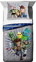 Disney Pixar Toy Story 4 All The Toys Twin/Full Comforter & Sham Set - Super Soft Kids Reversible Bedding Features Woody & Buzz Lightyear - Fade Resistant Microfiber (Official Disney Pixar Product)