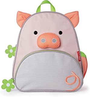 Skip Hop Zoo Insulated Toddler Backpack Pig, Pink, 12