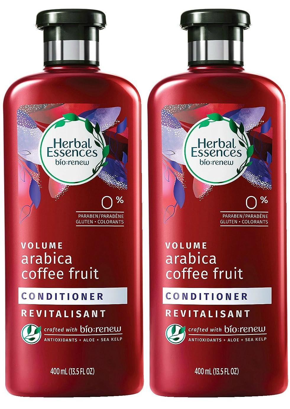 メッセージリスク抵抗力があるHerbal Essences Biorenewボリュームアラビアコーヒーフルーツコンディショナー、13.5液量オンス(2パック)