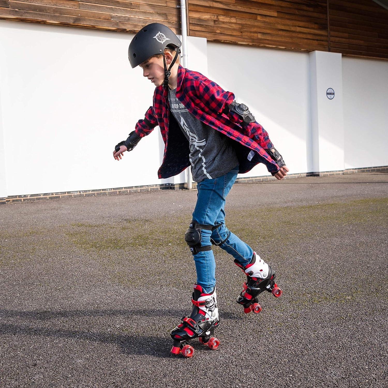 Multiple Designs Osprey Kids Roller Skates for Boys Adjustable Sizing Quad Skates for Beginner Children