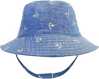 Bebé Niños Sombrero de Pescador UV Protección Denim Sombrero para el Sol Lindo Ancla Motivo Verano Primavera Gorro Vacacio...