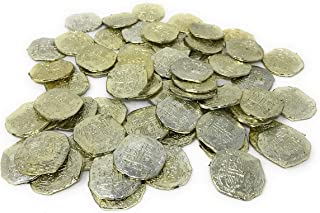 US Toy - Ancient Pirate Coins, (7.5 by 4.2 by 1.5 Inches) (2-Pack of 72)