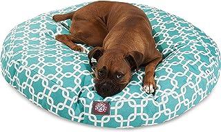 سرير Majestic المستدير للحيوانات الأليفة من الحلقات المتشابكة., Large, Teal