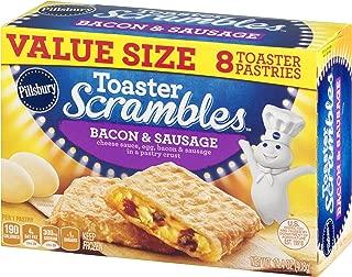 Pillsbury Toaster Scrambles, Bacon & Sausage, 8 Frozen Pastries, 14 oz. Box