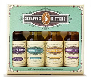Scrappy's Bitters The New Classics Gift Set, 4 ct, 0.5oz (Lavender, Cardamom, Black Lemon, and Orleans) - Organic Ingredie...