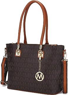 Mia K Collection Crossbody Shoulder Handbag for Women, PU Leather Pocketbook Top-Handle..