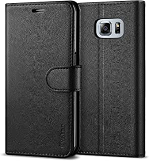 0aa2c056fc Vakoo Wallet Flip Case for Galaxy S6 Edge, Premium PU Leather Phone Cover  for Samsung