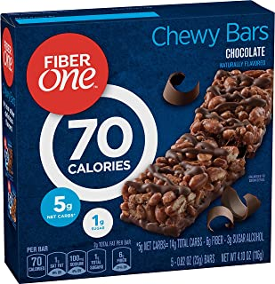Fiber One 70 Calorie Chocolate Bars, Snack, 4.1 Ounce (Pack of 1)