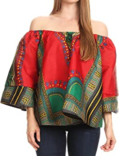 Efua Wax Ankara Dutch African Print Pirate Casual Top Colorful