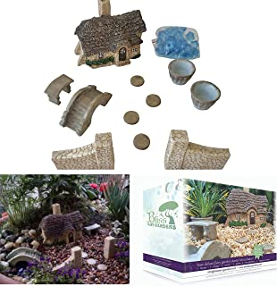 Mother Daughter Fairy Garden Deluxe Starter Kit   Durable Weather-Resistant   Hand-Crafted English Cottage & Accessories Collection