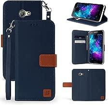 Alcatel A30 Case, Alcatel Kora Case [Kickstand Feature] Premium PU Leather Flip Fold Wallet Case with [ID&Credit Card Slot] for Alcatel A30 Verizon/Alcatel A30 GSM/Kora (Navy Brown)