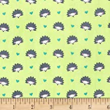 Michael Miller Fantasy Woods Hedgehog Heaven Spring Fabric by The Yard