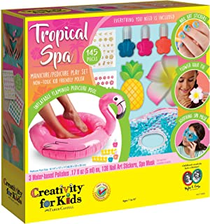 Creativity for Kids 6173000 Tropical Spa - Manicure & Pedicure Playset for Kids Multicolor