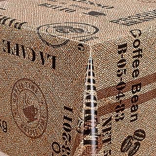 Wachstuch Tischdecke Wachstischdecke Robust Kaffee Macaron Beige Größe wählbar