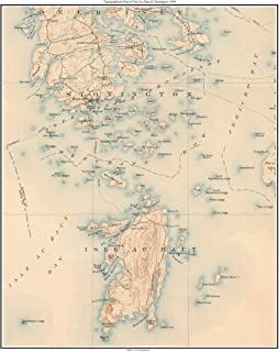 Isle Au Haut & Stonington 1904 Old Topographic Map USGS - Custom Reprint Maine