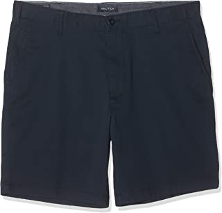 Nautica Men's Classic Fit Flat Front Stretch Solid Chino Deck Short