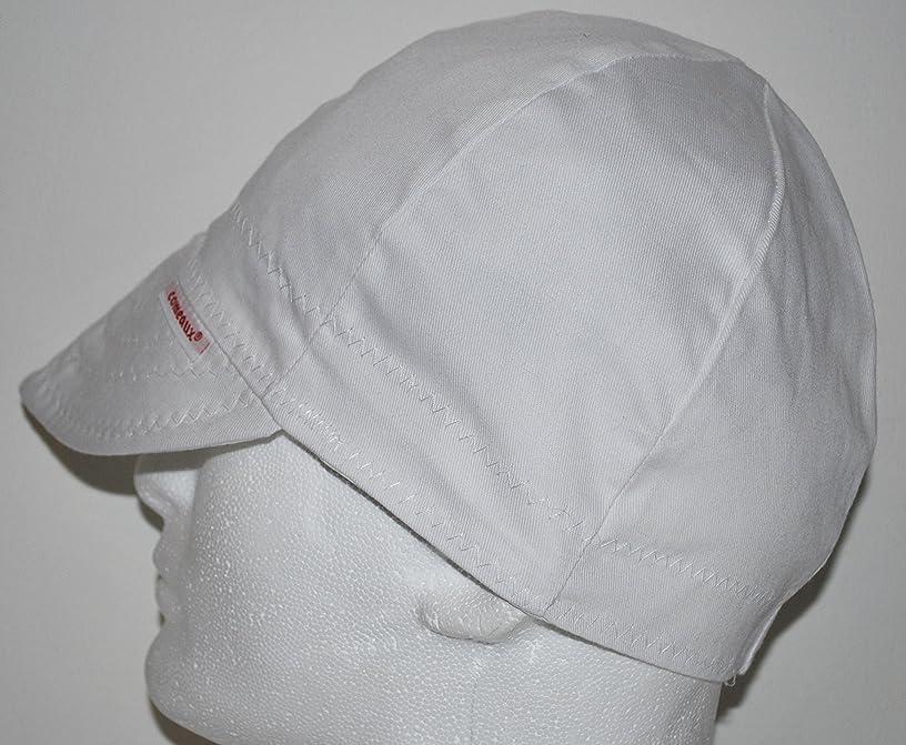 Comeaux Caps Reversible Welding Cap Solid White 7 3/8