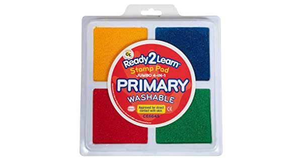 Center Enterprise CE6645 Jumbo Primary Washable 4 in 1 Stamp Pad