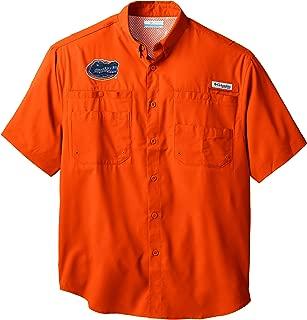 Columbia Men's PFG Collegiate Tamiami Short Sleeve Shirt, UV Protection, Wicking Fabric