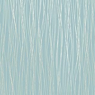 Mavee Non-Woven 3D Wallpaper, Print Embossed, Blue Modern Stripe Fashion Wallpaper for Livingroom, Bedroom, Kitchen and Bathroom, (20.8In x 32.8Ft)