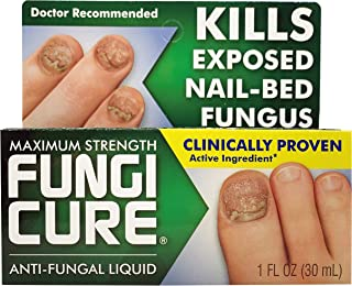 FungiCure Anti-Fungal Liquid 1 Ounce, Real Effective Medicine That Kills Exposed Nail-Bed Fungus with Visible Results in as Little as 4 Weeks