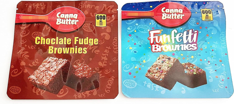 20 PCS Store Packaging Bags Canna Funfetti Choclate Brown Fudge Elegant Butter
