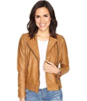 Lucky Brand - Collarless Leather Jacket