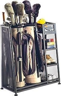 Suncast Golf Bag Garage Organizer Rack - Golf Equipment Organizer Storage - Store Golf Bags, Clubs, and Accessories - Perfect for Garage, Shed, Basement