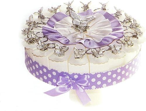 Torte Bomboniere 18 heiben von Kuchen mit Schmetterling Schlüsselkette Silberfarben Kunstharz komplett von Confetti Weißn Crispus zum Schokolade