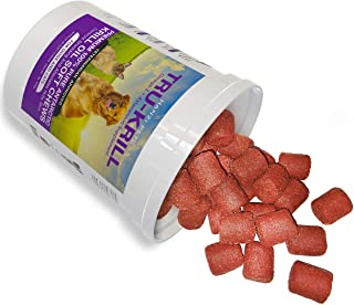 #1 Premium Antarctic Krill Oil Soft Chews for Dogs | Rich in Omega 3 | Astaxanthin | Vitamin E | For Skin and Coat | Low A...